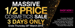 ½ Price Cosmetics Sale (Some Exclusions) @ Priceline (March 26-29, Online & In-Store)