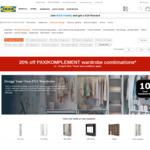 20% off PAX Customisable Wardrobe Storage System + KOMPLEMENT Interiors @ IKEA