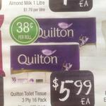 [WA] Quilton 3 Ply Toilet Tissue 16 Pack $5.99 @ Farmer Jack's Spearwood