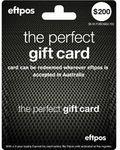 $200 EFTPOS Gift Card for $186.26 Delivered @ Officeworks eBay UK via App