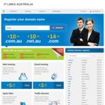 Domain Name Registration $10.99/Yr (.com.au .net.au) Normally $18.50/Yr @ IT Links Computers
