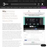 Win a Hotone Ampero Amp Modeller & Multi-Effects Processor Worth $759 from Mannys