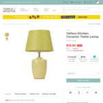 Yellow Kirsten Ceramic Table Lamp $16.95 + Delivery @ Temple and Webster