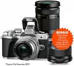 Olympus OM-D E-M10 III +14-42mm Kit + Bonus Olympus 40-150mm F/4-5.6 + Olympus 25mm F/1.8 via Redemption $999.95 @ Teds