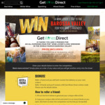 Win a Getaway to the Barossa Valley for 4 Worth $12,200 from Get Wines Direct
