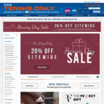 20% off Sitewide @ Tennis Only