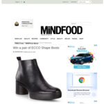 Win a Pair of ECCO Shape Boots Worth $299.95 from MiNDFOOD