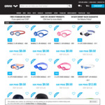 50% - 78% off Sale: Swimwear, Accessories (e.g Goggles from $8) + Shipping / $0 with $100 Spend @ Arena Swimming