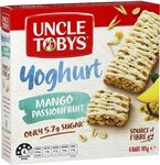Uncle Toby's Muesli Bars Yogurt Topps Mango Passionfruit 6 Pack $2.15 + Delivery ($0 with Prime/ $39 Spend) @ Amazon AU