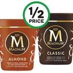 ½ Price Magnum Ice Cream Tubs 440ml $4.50 @ Woolworths