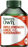 Nature's Own Triple Strength Garlic + C, Horseradish 150 tab $17S&S/$18.89 (Was $20.99) '+ Delivery ($0 with Prime/ $39 Spend)