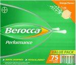 Berocca Energy Vitamin, Orange - 75 Effervescent Tablets $26.86 ($24.17 S&S) + Delivery ($0 with Prime/ $39+) @ Amazon AU