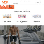 20% off UPS Supplements & Free Shipping over $59