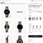 Fossil Gen 5 Smart Watch $349 Delivered @ Fossil