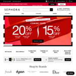 15% off Sitewide and Instore @ Sephora (Free Membership Required)