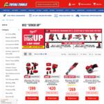 Bonus Power Tool Skin with Selected M12 Milwaukee Kits (2 Piece Combo Kit $399) @ Total Tools