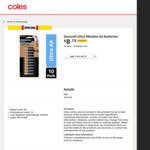 Duracell Ultra AA (10pk) or AAA (8pk) $8.75 (Was $17.50) @ Coles