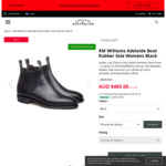 R.M. Williams Adelaide Womens Boots $465 + Shipping @ Everything Australian