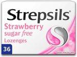 Strepsils Sugar Free Strawberry Lozenges 36pcs $5.66 S&S + Delivery ($0 with Prime/ $39 Spend) @ Amazon AU