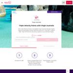 Triple Velocity Points with Eligible Virgin Australia Domestic Flights @ Virgin Australia