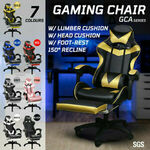 Gaming Chair w/ Footrest Computer Recliner PU Leather $109.50 Delivered @ Gosuperspecial eBay