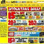 JB Hi-Fi Stocktake Sale (15% off Samsung TVs, 20% off Computers, 15% off Digital Cameras + more)