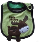 $12 for a Set of 3 Layer Beetle Embroidered Waterproof Bibs - Save $10 -Free Shipment