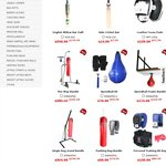 Fitness Equipment and Cricket Bat SALE (up to 73%) with Flat Rate Shipping Australia WIDE
