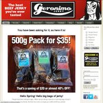 Geronimo Jerky: Monthly Deal - $35 for a 500g Bag + Shipping