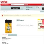 Half Price Alfa One Rice Bran Oil 3 Litres $8.95 at Coles ($3/L)