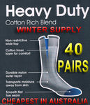 40 Pairs Outdoor / Work / Sport Heavy Duty Socks for Only $49.99 + Free Postage for OzBargain