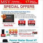 SanDisk Ultra Plus SSD 128GB/256GB $72/$129 @ MSY