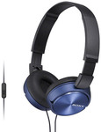 Sony ZX310 Headset - Blue $11.98 Delivered @ COTD [Existing Members or $19.98]