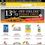 My Pet Warehouse - 13% off Sitewide*, Free Shipping on Spends of over $49.99*