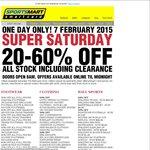 """Super Saturday"" 7 Feb Sale @ Sportsmart, 20-60% All Stock Inc Clearance. Instore (Vic.), Online"