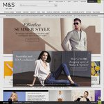 Marks and Spencer 20% off Clothing, Home and Beauty