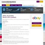 3.3% Cashback Sitewide @ eBay Australia via Cashrewards