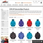 50% off Selected Lines at MONT Adventure Equipment - Free Shipping over $50