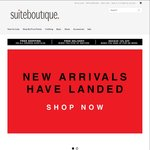 Suite Boutique Online Store - 10% off for Newsletter Sign up