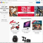 20% off at 43 Selected Tech & Tools Stores on eBay
