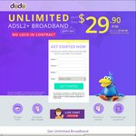 Dodo - Unlimited ADSL2+ Internet Plan for $29.90 a Month - No Contract