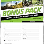 Free Cannondale Packs with Cannondale Bike Purchase (Via Redemption)