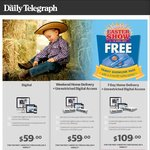 Free Sydney Easter Show Family ShowLink Pass (Worth $102) with Purchase of 3 Months Daily Telegraph Subscription - $59