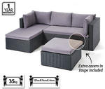 Corner Wicker Outdoor Lounge Setting $349 Aldi 4/3