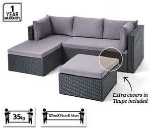 Corner Wicker Outdoor Lounge Setting 349 Aldi 4 3 Ozbargain