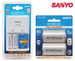 Sanyo Eneloop AA Battery Recharger Pack Including 2 X D Battery Adaptors $18.95 + $5.95