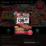 Domino's Belmont WA Customer Appreciation Day (Pickup) - $3.95 Value Range, $5.95 Traditional Range Pizzas