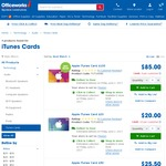 iTunes 15% off Gift Cards @ Officeworks