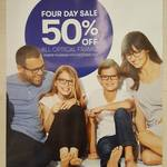 50% off All Optical Frames and single vision lens @ BigW Optical till 22/10/17