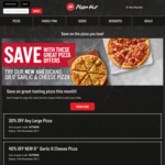 Pizza Hut - 2x LARGE Pizzas for $15 (Pick up), 3x LARGE Pizzas (Delivered) $31.95 + More